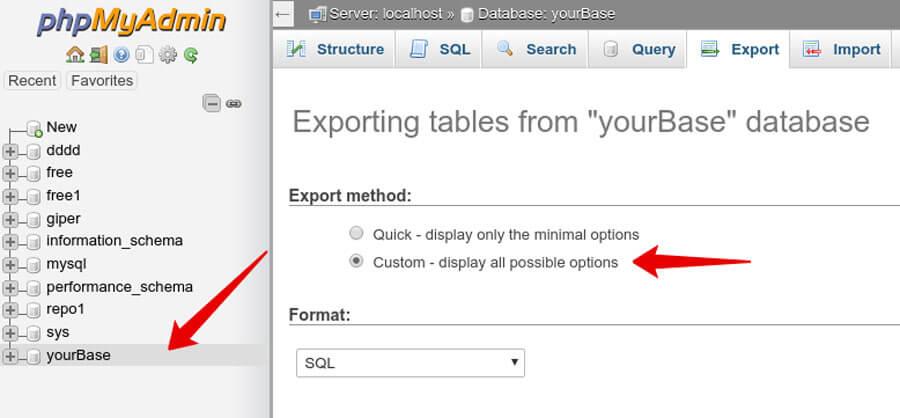 ВыберитеCustom - display all possible options (Обычный - отображать все возможные настройки);