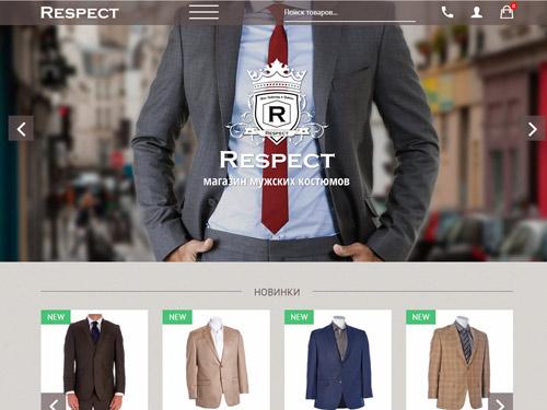 Respect креативный премиум шаблон от Jstudio-pro